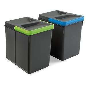 Abcidubxc ahorro de espacio y f/ácil de usar cajones cubo de basura de cocina Cubo de basura retr/áctil escondido