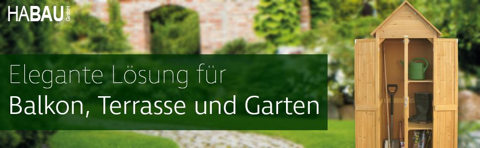 Habau 3101 Gartenschrank Spitzdach 79 X 60 X 210 Cm