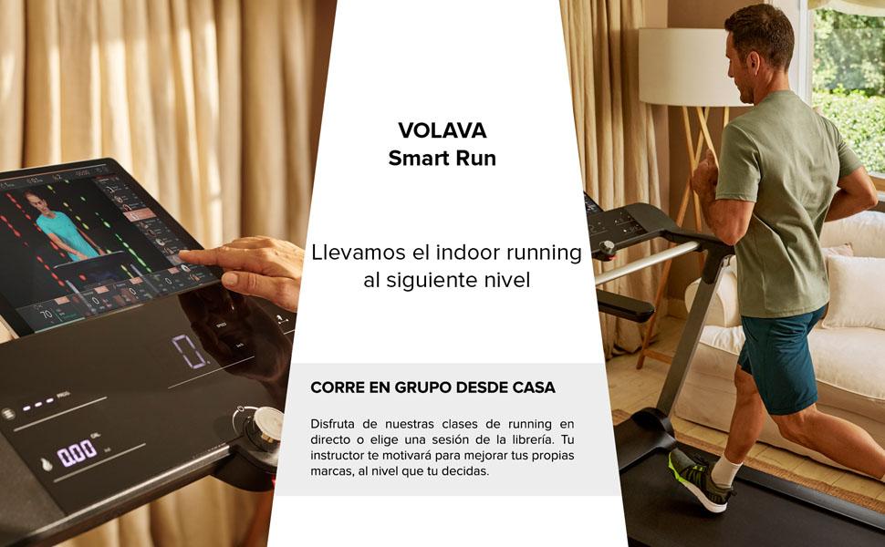 VOLAVA Smart Run Cinta de Correr. Compacta y Plegable. De 1 a 20km/h. Superficie de 45x130cm. Uso doméstico. 10 programas Entrenamiento. Clases de ...