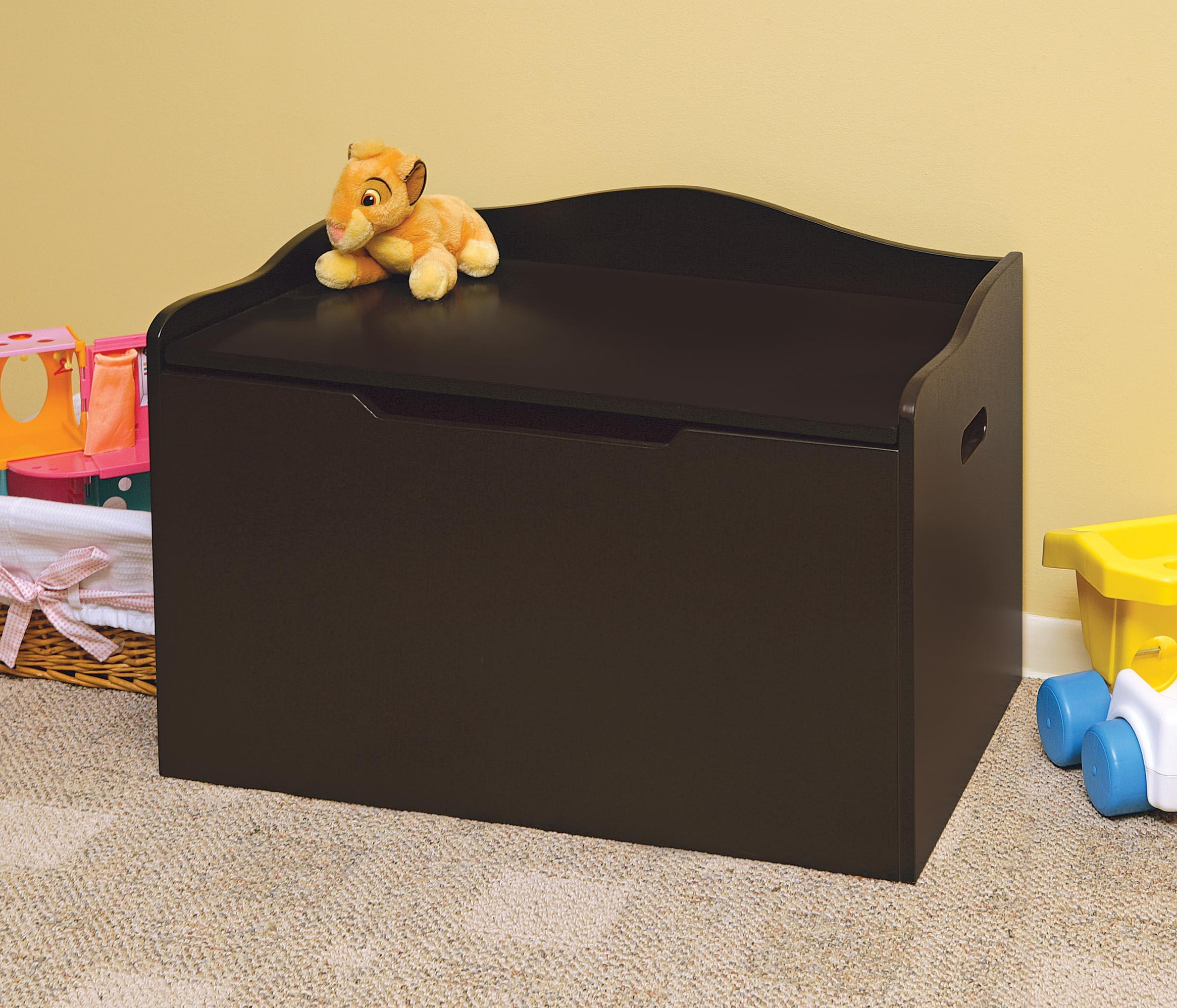 Best Toy Boxes And Chests For Kids : Amazon lift top bench seat wooden toy box with safety