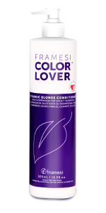 Framesi Color Lover Dynamic Blonde Conditioner, Drenching hair in rich moisture