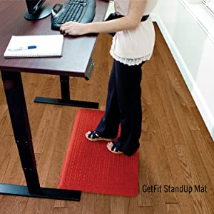 GetFit StandUp mat, healthy, anti-fatigue, comfortable, durable, desk mat, alleviates pain