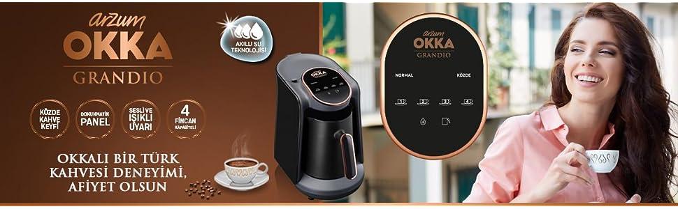 arzum okka grandio türk kahvesi makinesi