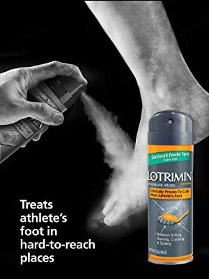Runner's feet and Lotrimin AF Powder Spray Treats athlete's foot in hard-to-reach places