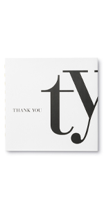 thank you gift book black white cover gender neutral