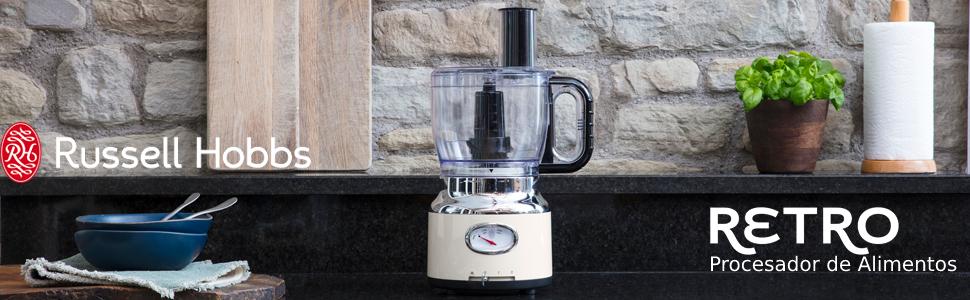 Russell Hobbs Retro - Robot de Cocina (850 W, Vaso Smoothies ...