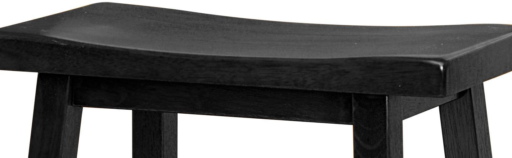 Winsome Wood 29 Inch Saddle Seat Bar Stool Black Amazon