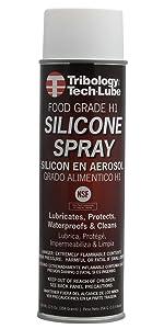 Tribology Food Grade H1 Silicone Spray Grease, 12.5 oz. Aerosol Can