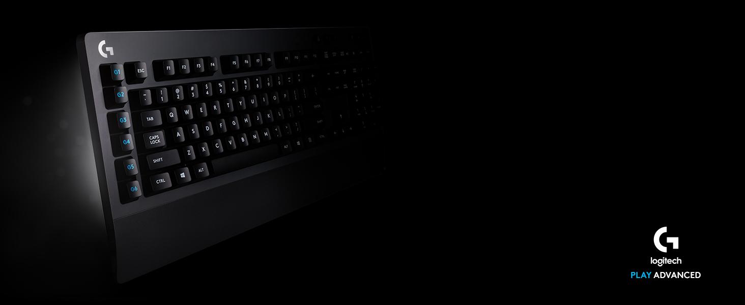 Logitech G613 Teclado Gaming Mecánico, LIGHTSPEED Avanzado 1ms 2.4GHz y Bluetooth, Teclas Táciles Romer-G, Multidispositivo, 6 Teclas G Programables, ...