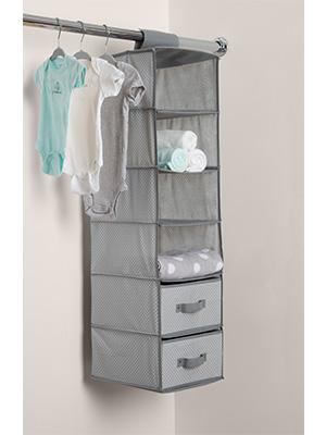 delta children hanging storage 6 shelves organizer nursery baby closet