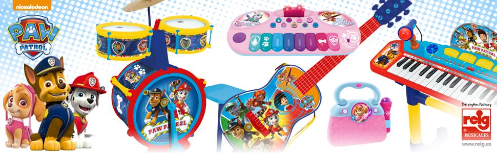PAW PATROL Guitarra (Claudio Reig 2524): Amazon.es: Juguetes y juegos