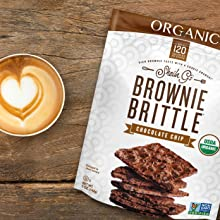 Brownie Brittle, inspired by crispy brownie edge for a delicious snack with a cookie crunch.