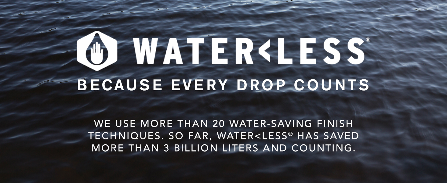 Waterlt;Less: Because every drop counts.