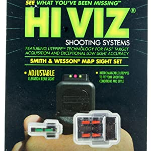 Hiviz, gun sights, Smith and Wesson sight, handgun, pistol, 9mm sight, 40mm sight, 45 ACP sight