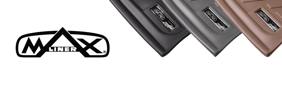 2017 MAX LINER A0298//B0298 MAXFLOORMAT Floor Mats for Ford Super Duty Crew Cab with 1st Bench Seat Black 2 Row Set