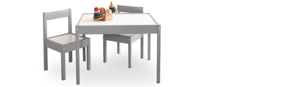 Baby-Relax-Kids-Table-and-Chair-Set Amazon.com: Baby Relax Hunter 3 Piece Kiddy Table and Chair Set