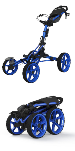 Rovic; Clicgear;4 wheel push cart;golf push cart;push-pull cart;golf trolley;golf bag cart;swivel