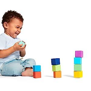 solid wood block set building blocks shape sorter puzzle pull car learning educational toy STEM