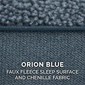 sleep; surface; faux; sherpa; fleece; chenille; orion; blue