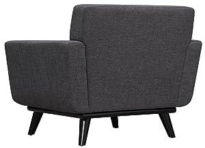 Linen Wood Arm Chair