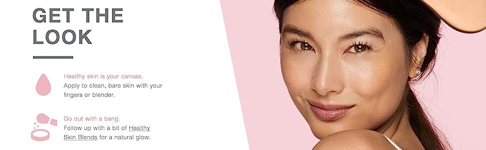 Get the look - woman wearing Neutrogena Healthy Skin Radiant Tinted Moisturizer