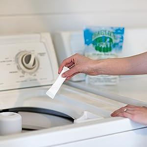 laundry powder packet