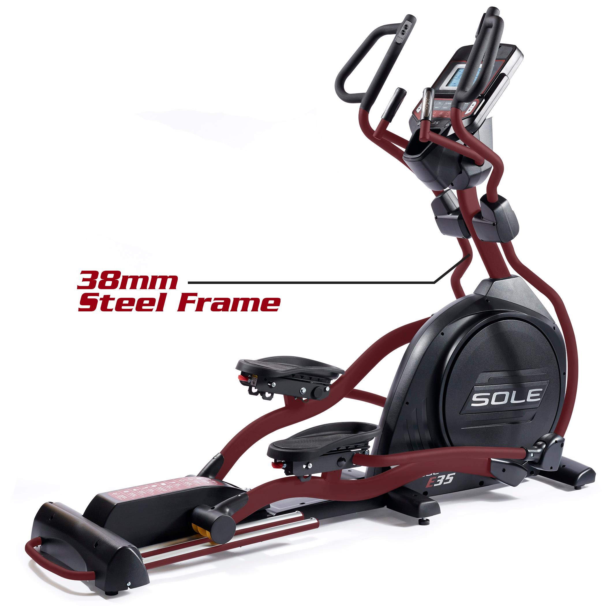 Life Fitness Treadmill Canada: SOLE Fitness E35 Elliptical Machine With Power Incline