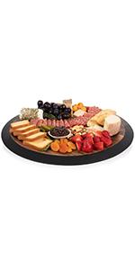 lazy susan, wood lazy susan, cheese board, charcuterie boards, serving platter, wood serving platter