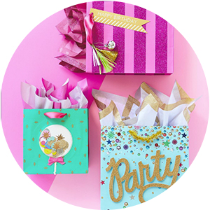 Hot pink, aqua, turquoise amp; gold gift bags for birthdays, bachelorette parties amp; brides to be