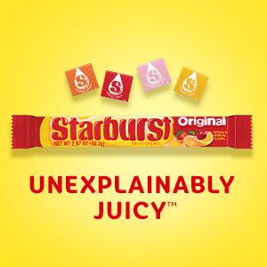 STARBURST Candy: Unexplainably Juicy.