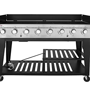 Amazon.com: Royal Gourmet parrilla con 8 quemadores, Negro ...