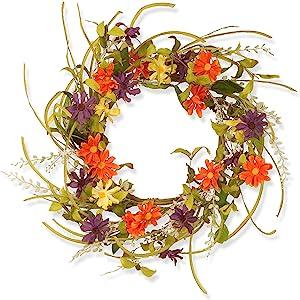 Floral Daisy Wreath