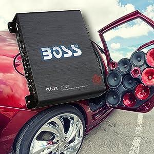 Boss Audio R1100m Riot Series Monoblock 1100 Watt Class A B Amplifier Home Cinema Tv Video