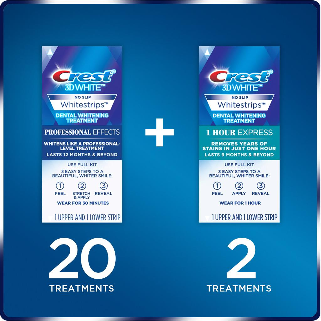 Crest 3D White Professional Effects Whitestrips Dental