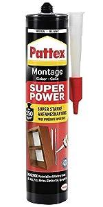 Pattex montagelijm super power extra sterke grip monteren ophangen lijm