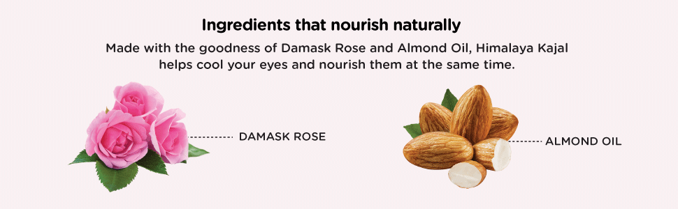 made with the goodness of Damask rose and almond oil, kajal helps cool your eyes