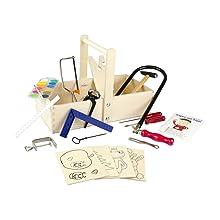 Zubehör und Sperrholzplatte Laubsäge-Set inkl in Holzbox 1Set