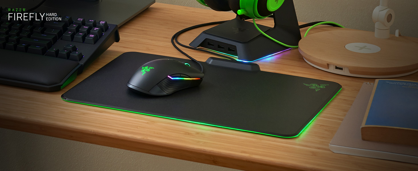 Renewed Razer Firefly Chroma Custom Lighting Hard Gaming Mouse Pad