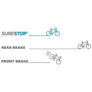 SureStop brakes, childrens bikes, safe bikes for boys, safe bikes for girls