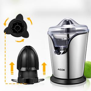 Aicok Presse Agrumes Électrique Presse Fruit Extracteur de