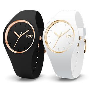Ice-Watch - Ice Glam Schwarz Rose-Gold - Damen wristwatch