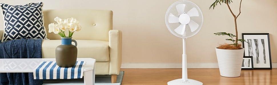 リビング 扇風機 押しボタンスイッチ 風量3段階 タイマー付 ホワイト YLT-C30 W