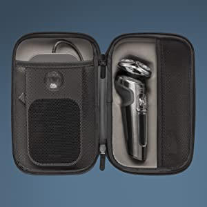 Protects your shaver, accessories and Qi charging pad