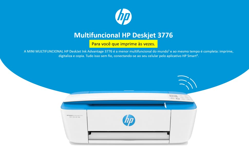 Multifuncional HP Deskjet 3776 | wifi mini