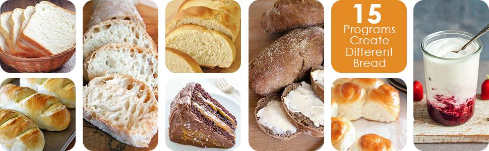 Aicok Panificadora, Máquina programable para hacer pan ...