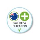 Hospital Grade True HEPA Filtration