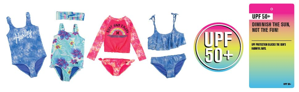 hurley girls, hurley kids, hurley swim, hurley apparel, kids swim, kids apparel