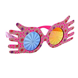 Amazon Com Sun Staches Official Luna Lovegood Character Sunglasses Novelty Costume Party Favor Sunglasses Uv400 Pink Toys Games