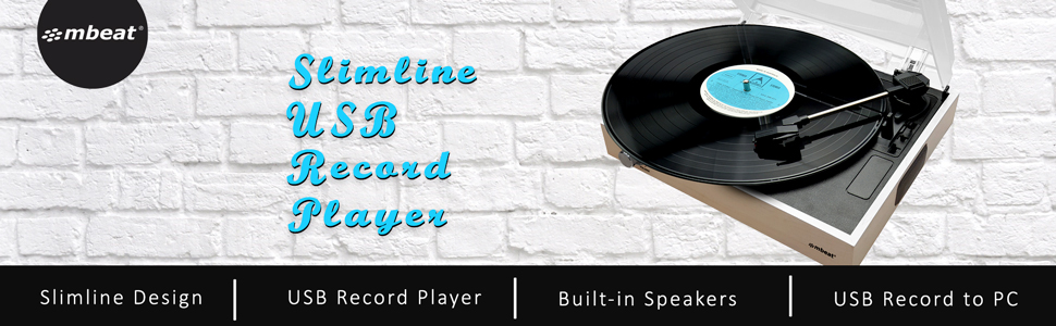 mbeat MB-USBTR68 Record Player Amazon vendor central hero image banner