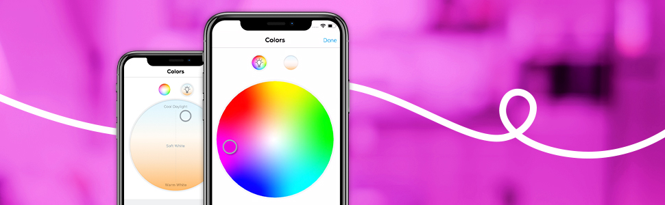Create any mood with millions of colors and a tunable white spectrum